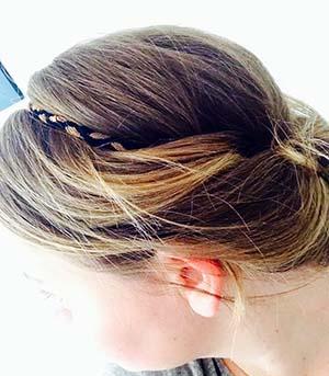 Comment faire un chignon avec un headband mon - Chignon avec headband ...