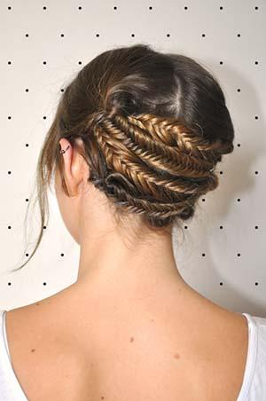 tuto coiffure chignon